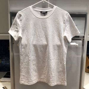 White sequined t shirt
